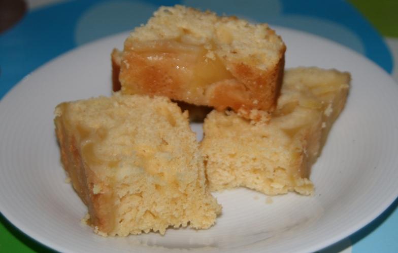 Quadratini di mele alla vaniglia