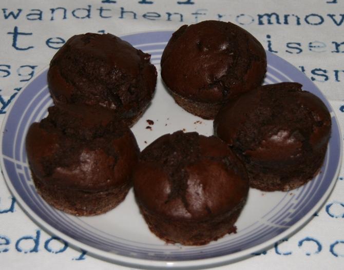 Muffin al cioccolato al profumo di gelsomino