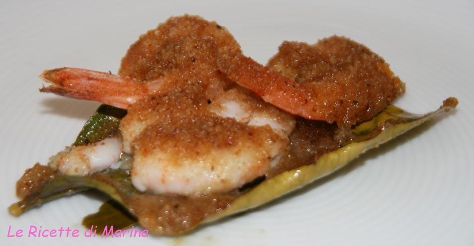 Il mio menù a base di pesce..