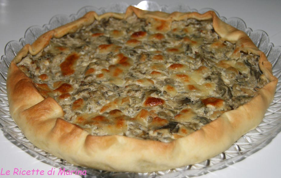 Torta salata con carciofi e ricotta
