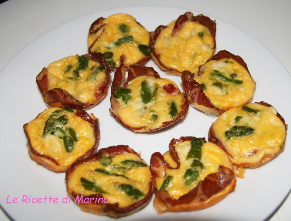 Frittatine al forno con asparagi