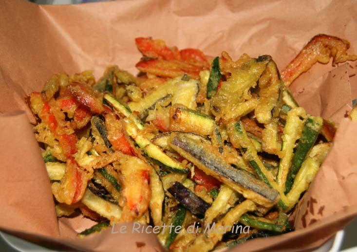 Verdure in pastella con cumino e zafferano