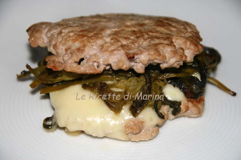 Hamburger friarielli e provola