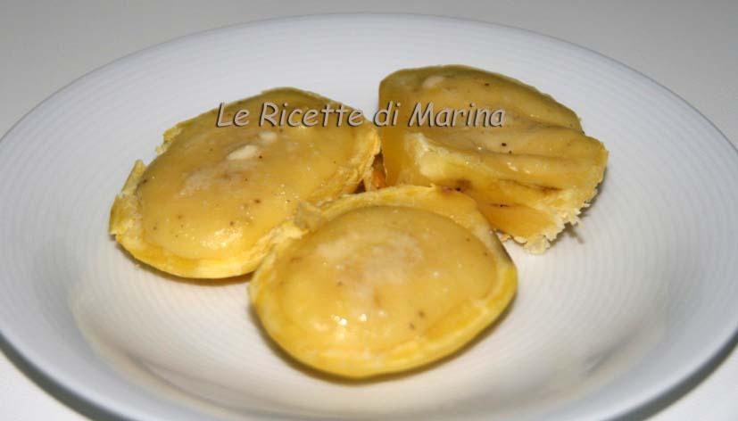 Barchette di patate e formaggio al tartufo