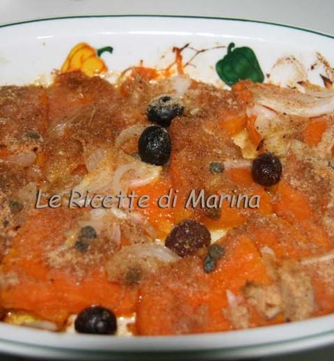 zucca gratinata con olive