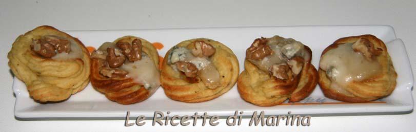 Cestini di patate al tartufo con gorgonzola e noci