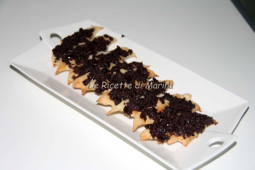 Pipistrelli alle olive – Rustici per Halloween