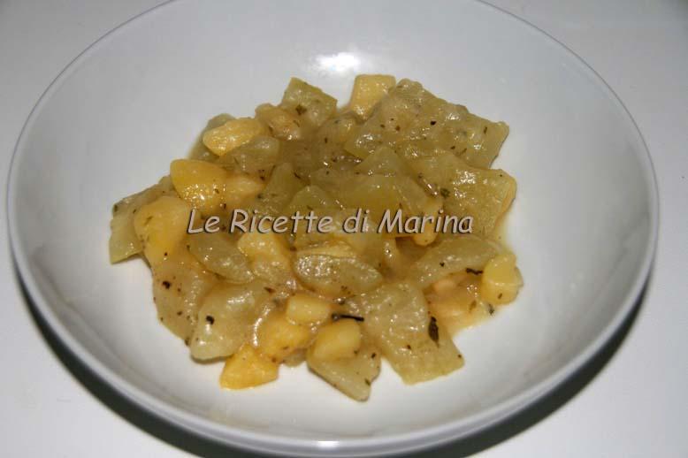 Zucchetta e patate in bianco, ricetta contorno