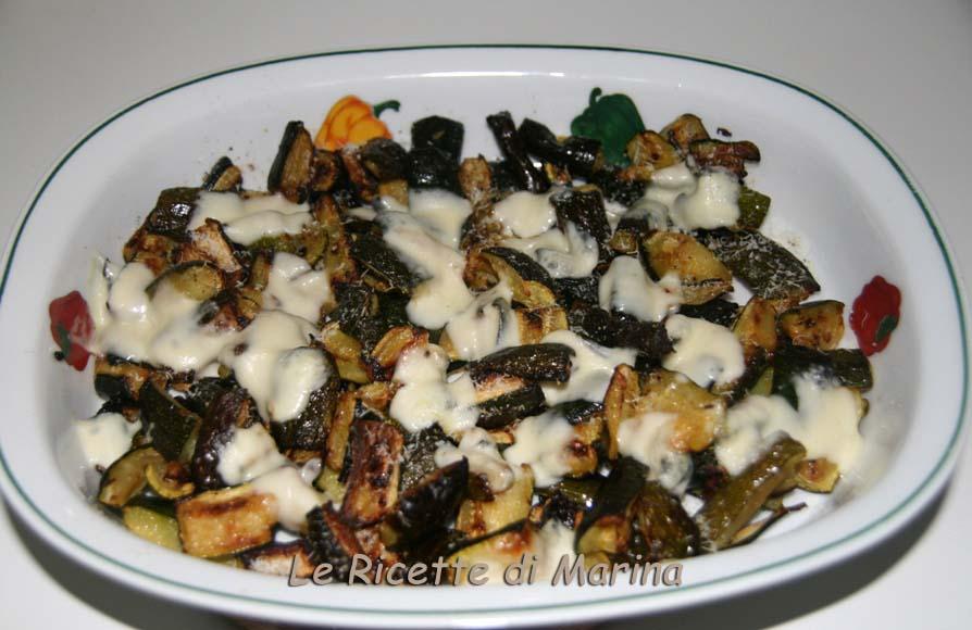 Zucchine al forno con formaggio, ricetta light