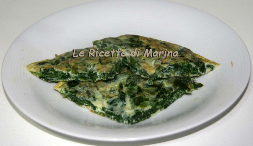 Frittata di spinaci, ricetta light