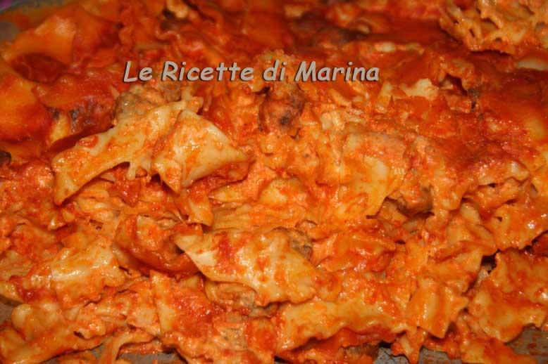 Pasta al forno con ricotta e polpettine
