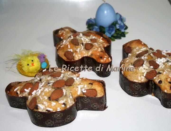 Colombine di Pasqua con gocce di cioccolato