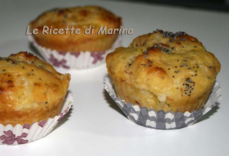 Muffin salati porro e speck