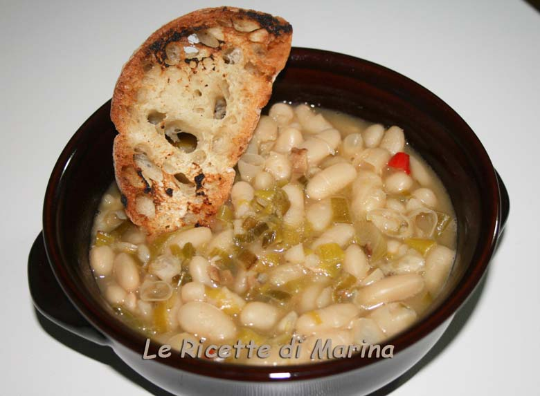 Zuppa di fagioli e porro