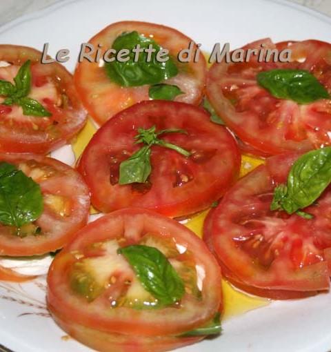 caprese mozzarella e pomodori