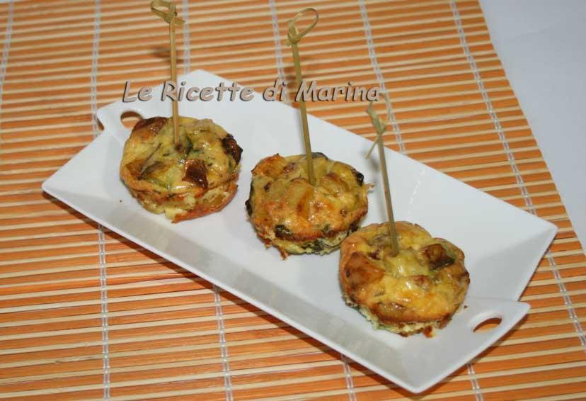 Frittatine speziate con zucchine e patate