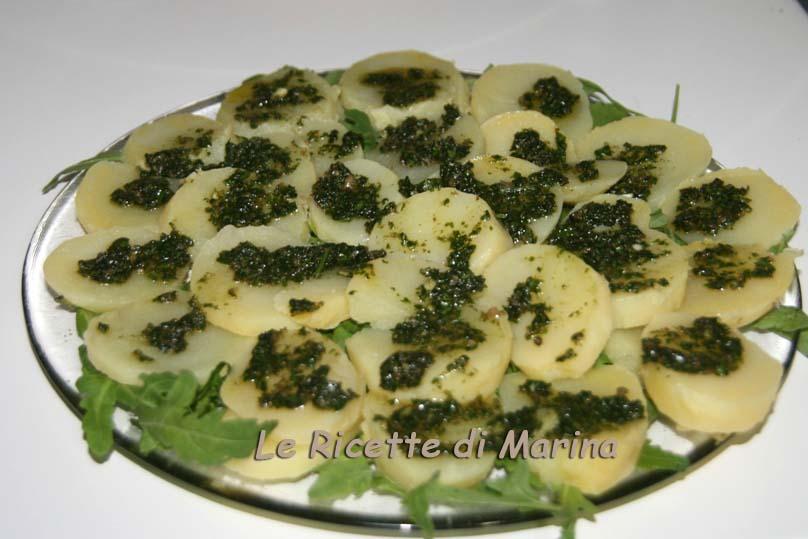 Patate con salsa verde