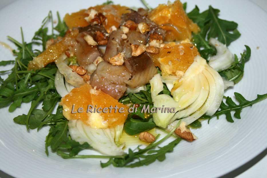 Insalata di aringhe con finocchi, arance e miele