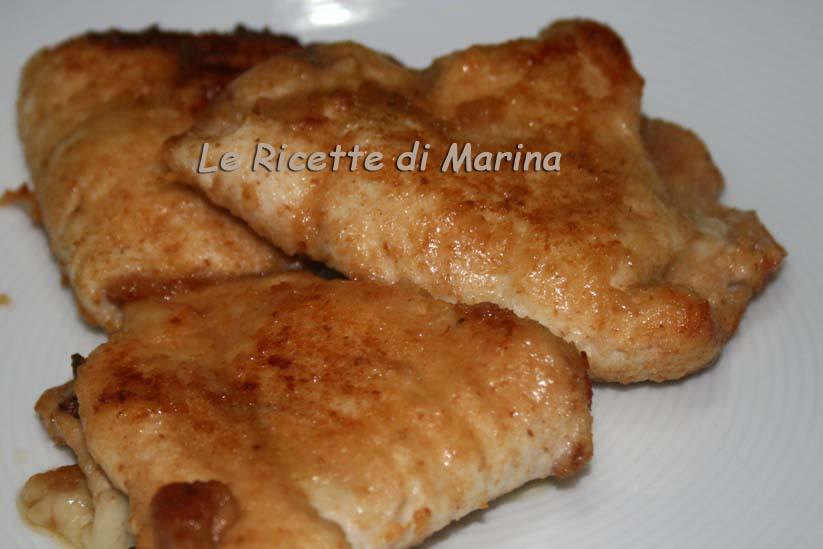 Tasche di petto di pollo al forno