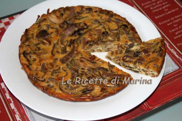 Frittata di cipolle, fritta o al forno