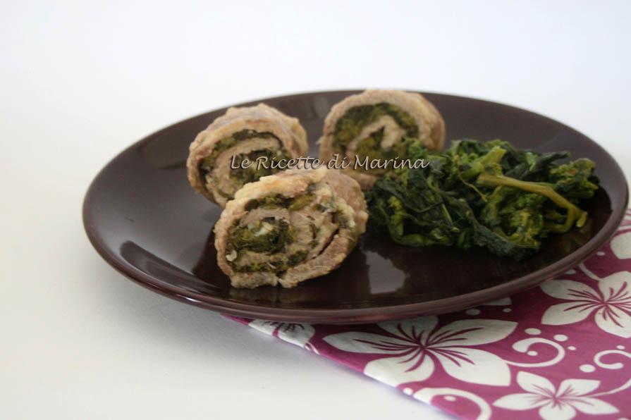 Involtini di carne con broccoli e scamorza