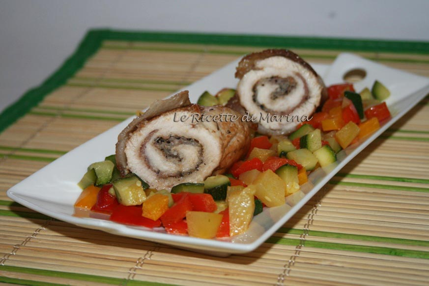 Involtini di tacchino con verdure