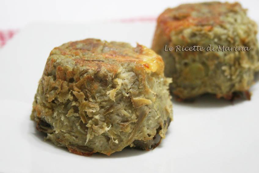 Sformatini di patate e carciofi