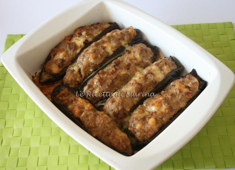 Barchette di melanzane ripiene con carne