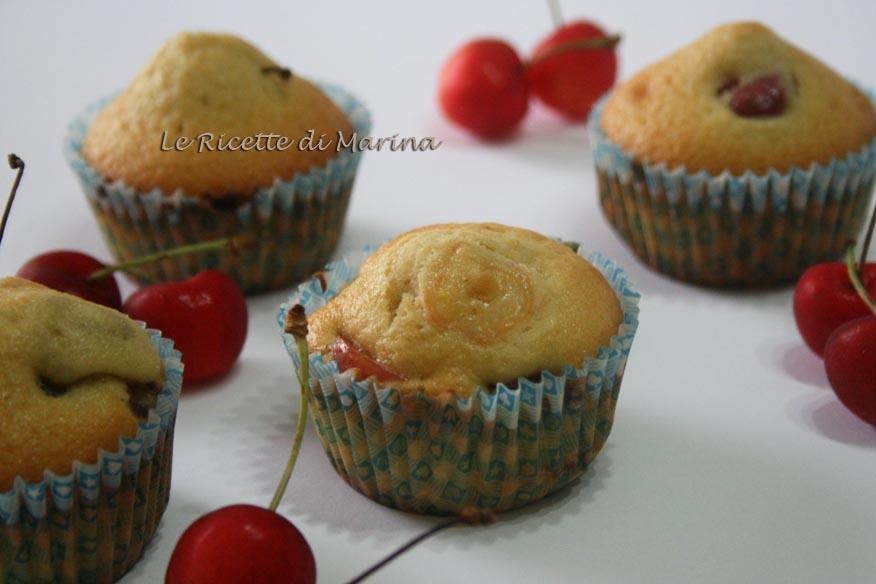 Muffin con le ciliegie
