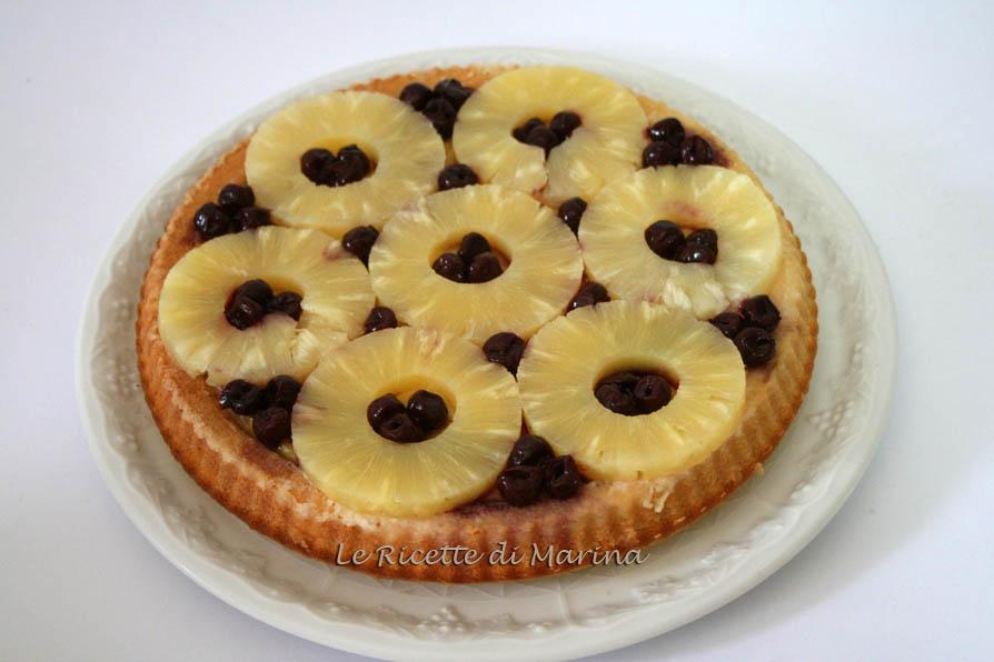 Torta ananas e amarene