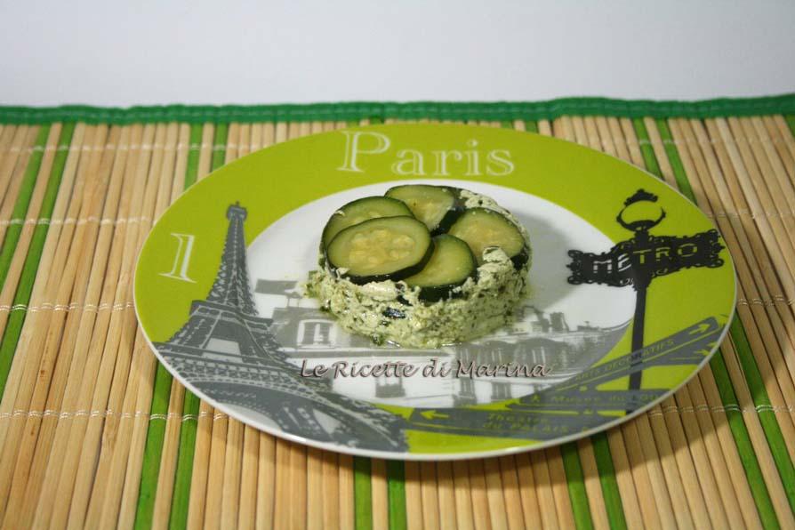 Tortini di zucchine ricotta e pesto