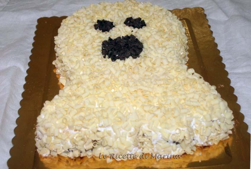 Torta fantasma, ricetta per Halloween