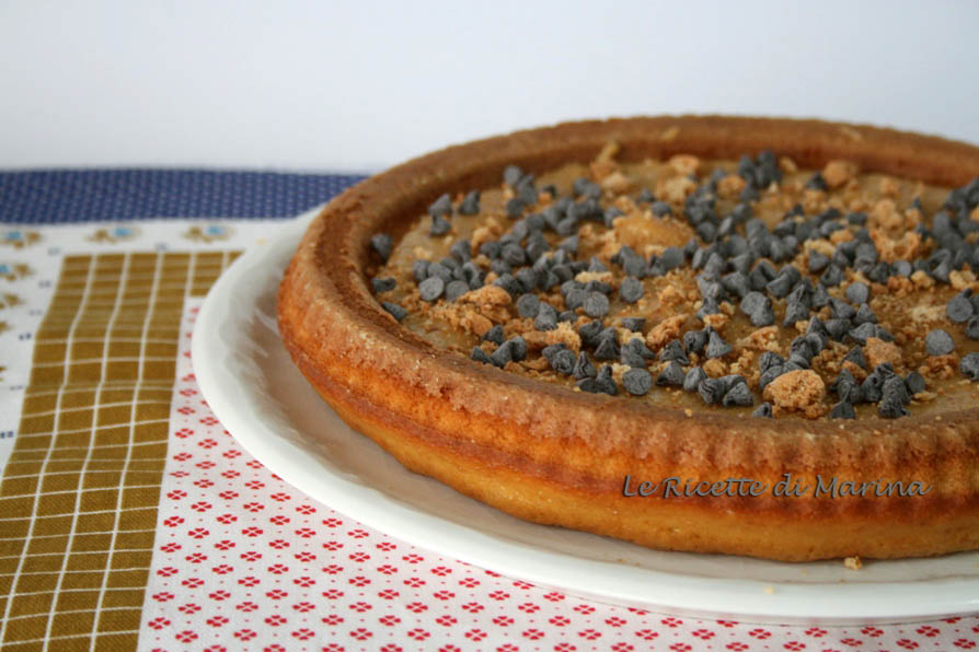 Crostata morbida con crema di amaretti
