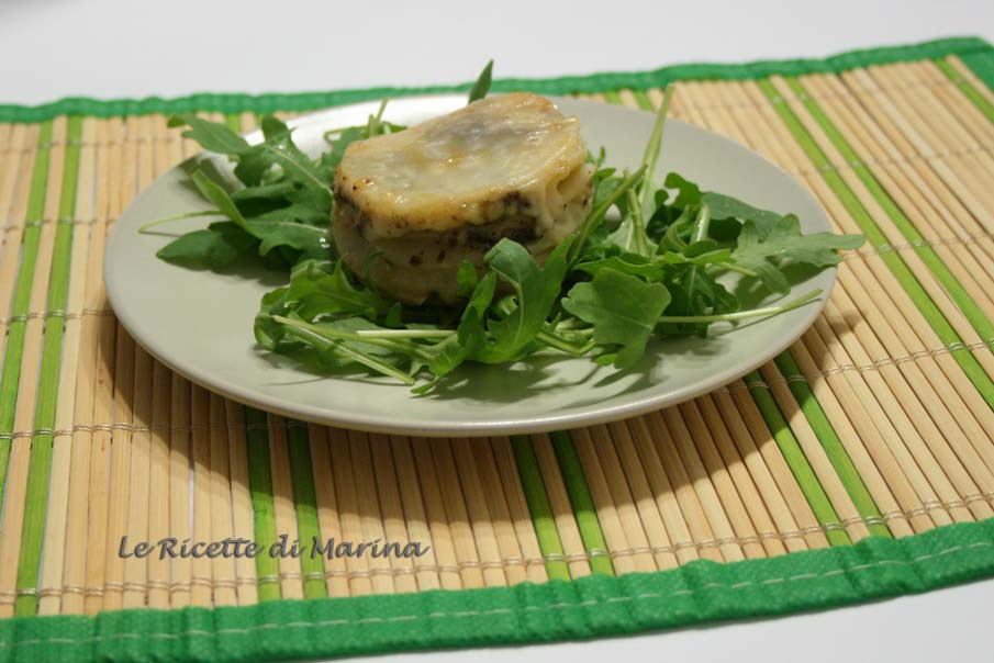 Millefoglie di sedano rapa con formaggio e tartufo