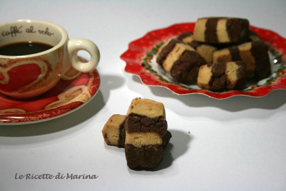 Biscotti sablè bicolore