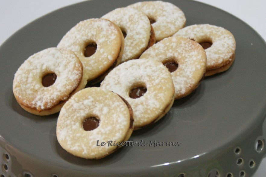 Occhi di bue a nutella
