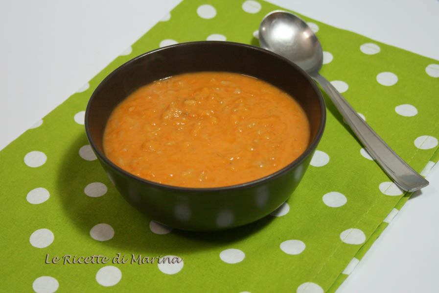 Crema di zucca e fagioli con riso integrale