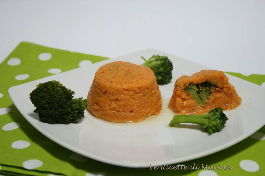 Sformatini di zucca e broccoletti