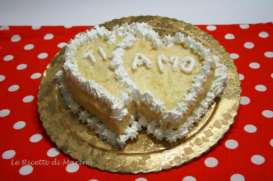 Torta di san valentino le ricette di marina for Pensierini di san valentino