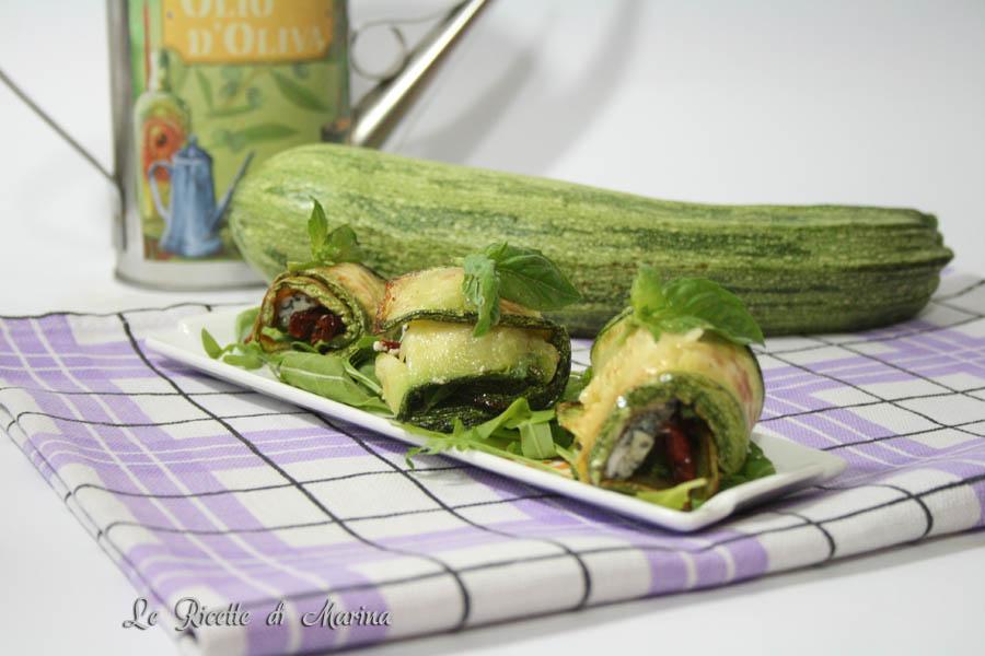 Involtini di zucchine e gorgonzola
