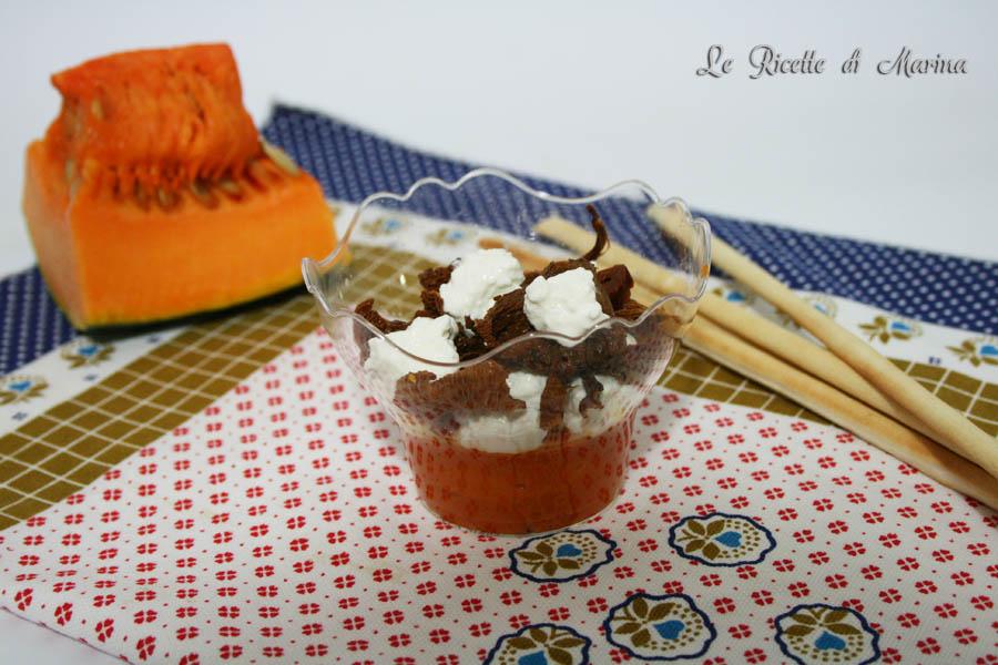 Crema di zucca con ricotta e finferli