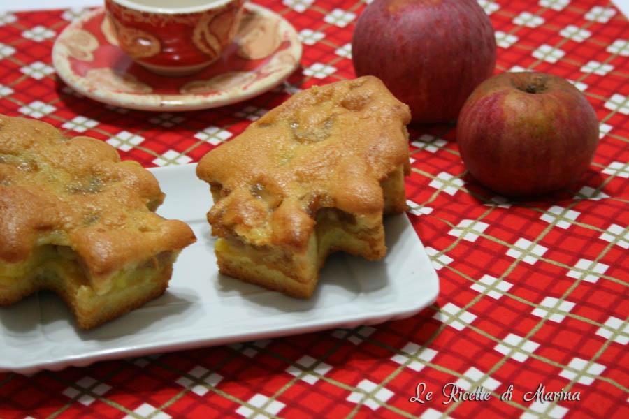 Alberelli alle mele, tortine ripiene di crema e mele