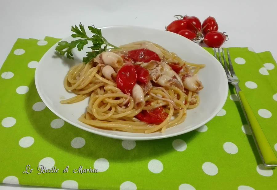 Spaghetti con calamarelle