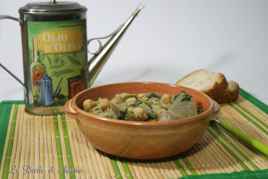 Zuppa di ceci e bieta a costa