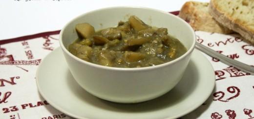 Zuppa di carciofi e patate