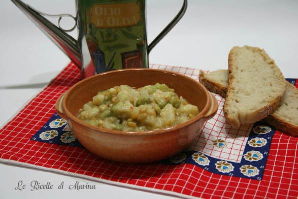 Zuppa di kamut con cavolo bianco e cavolo romanesco