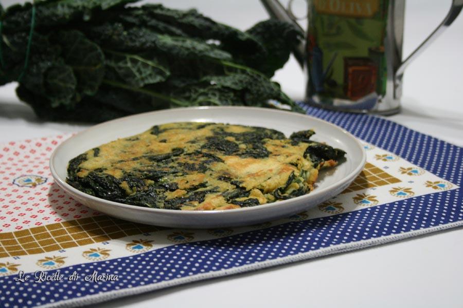 Farifrittata con cavolo nero, frittata senza uova