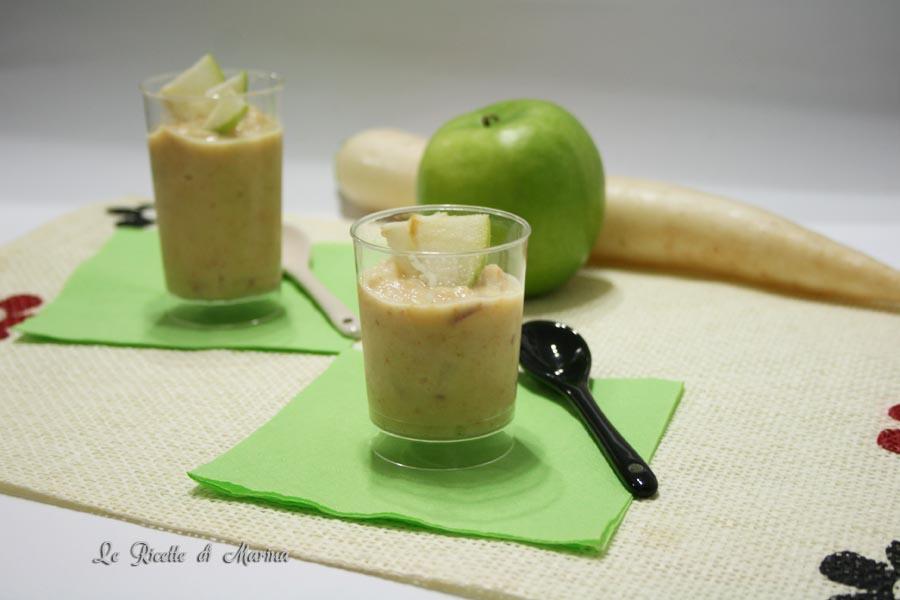 Crema fredda di rafano e mela verde