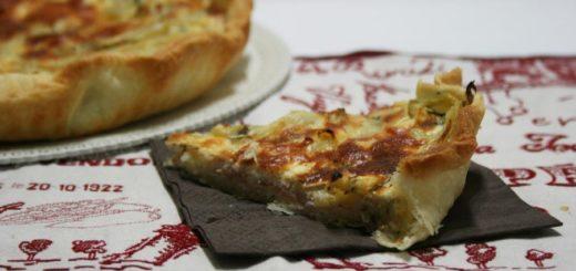 pizza rustica con coste e ricotta