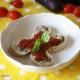 Rollè di pasta fresca con melanzane e ricotta